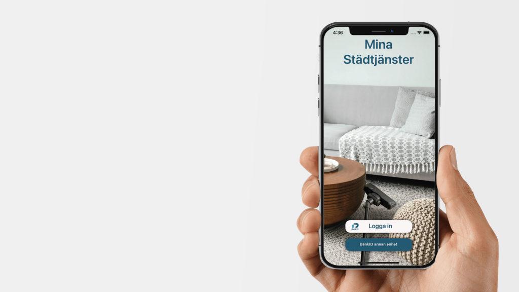 """Lansering av appen """"Mina Städtjänster"""""""